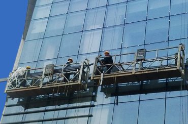 100m - 300m suspenderede adgang platforme 220v til højhus byggemaleri