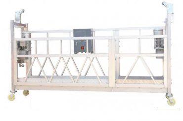 stålmalet / varmgalvaniseret / aluminium zlp630 ophængt arbejdsplatform til bygning facade maleri