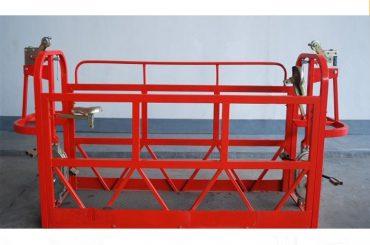 800kg malede / aluminiumophængte platforme til motorkraft 1.8kw stilladsplatform