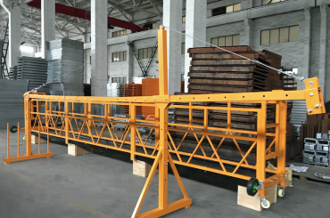 zlp 500 lp 630 midlertidigt suspenderet stålværk platform til bygning