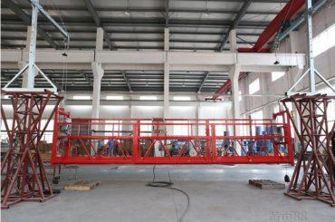 10 meter aluminiumslegeret ophængt arbejdsplatform med hejsen ltd8.0